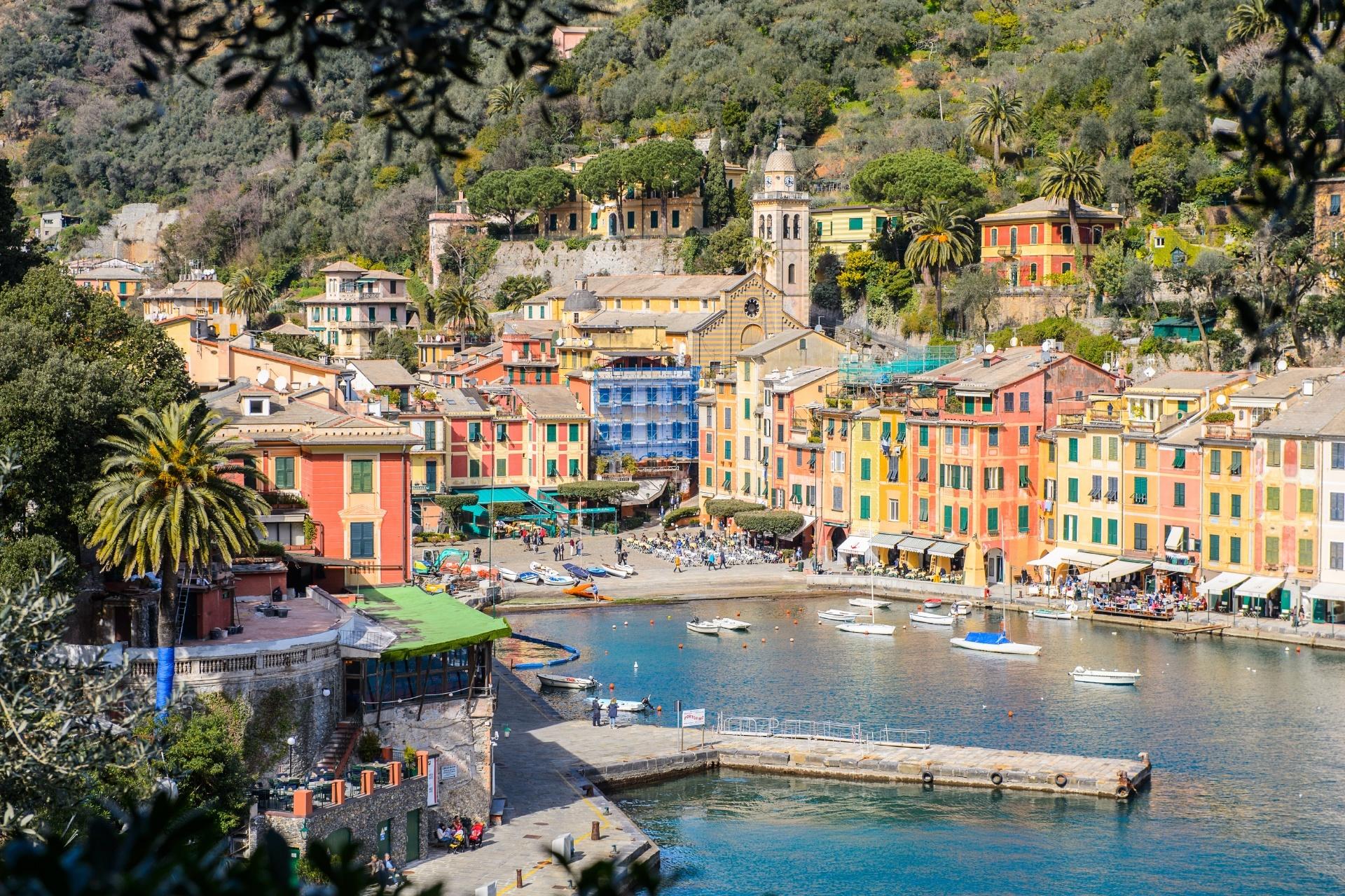 ポルトフィーノ港の風景 イタリアの風景