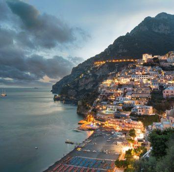 ポジターノの町並み イタリアの風景