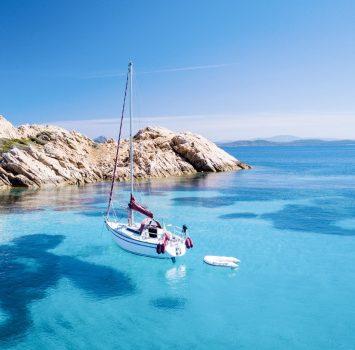サルデーニャ コスタ・スメラルダの美しい海 イタリアの風景