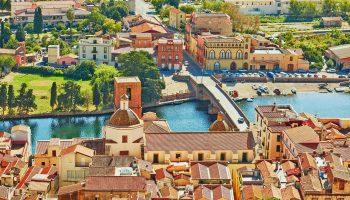 ボーザ サルデーニャ イタリアの風景